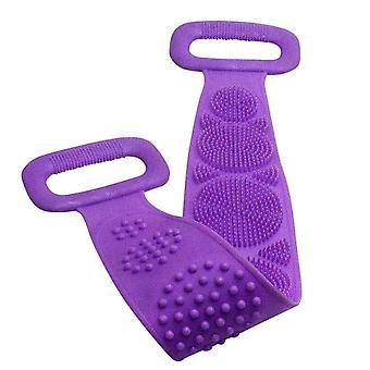 Silicone Back Scrubber Soft Loofah Bath Towel, Bath Belt Body Exfoliating