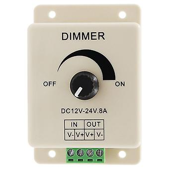Led Dimmer-switch Dc 12v/24v 8a Controlador de tira de bombilla de brillo ajustable