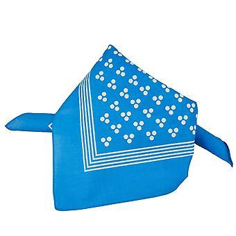 Krawatten Planet blau mit weißen 3-Punkt & Streifen Bandana Neckerchief