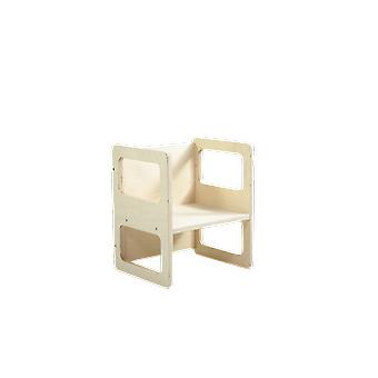 Wooden high chair with adjustable seat 33x30x55 cm