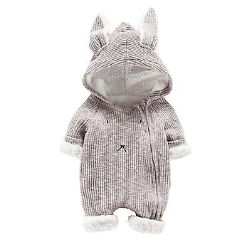Niemowlę Dziecko Cartoon Hooded 3d Ear Romper Kombinezon Ubrania Winter Warmer Newborn