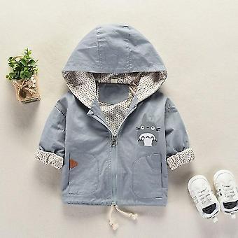 Nyfödda Baby Girl Spring Höst kläder, 1-4year Boys Jacka Hooded Coat