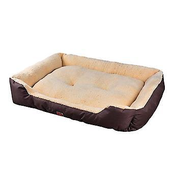 Pawz Pet Bed Materac Pies Cat Pad Mat Poduszka Miękka Zima Ciepły Duży Brąz