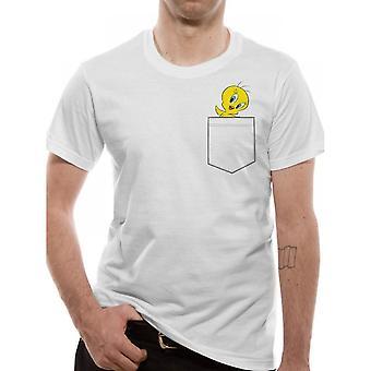 Looney Tunes unisexe adultes Tweety Pocket design T-Shirt