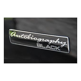 Black/Chrome Range Rover AUTOBIOGRAPHY BLACK Rear Boot Badge Emblem