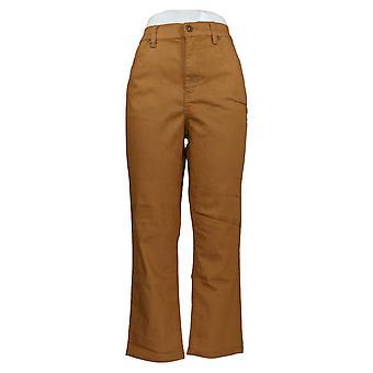 DG2 by Diane Gilman Women's Jeans Beige Slim Leg Regular Cotton 728-965