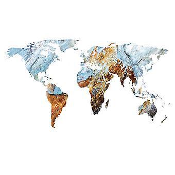 Taustakuva seinämaalaus maailmanlaajuinen rock kartta (68034322)