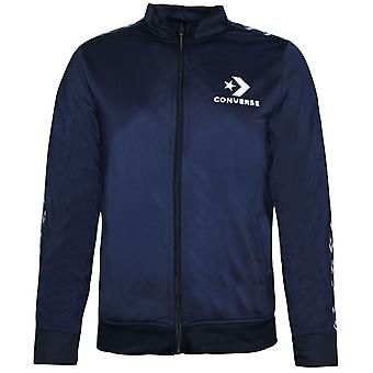 Converse Junior Boys Tricot Taping Jacket Track Top Navy 968673 695
