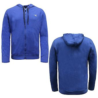 Diadora Mens Hoodie Sweatshirt Zip Up Jumper Blue 102 173160 60046 A67C