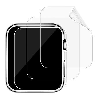 Jetech screen protector for apple watch 42mm series 3 2 1, tpe ultra hd film, 3-pack