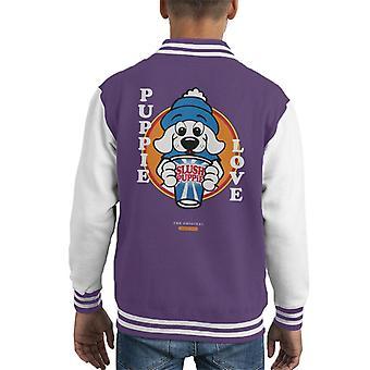 Slush Puppie Love Cartoon Kid's Varsity Jacket