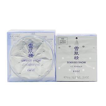 Kose Sekkisei Snow CC Powder SPF14 (Case + Refill) - # 03 Moderately Dark (Natural Tone) 8g/0.28oz