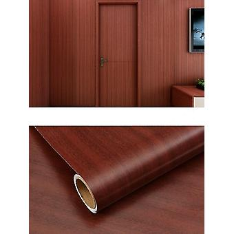 Waterproof, Moistureproof, Pvc Wood Grain Wallpaper