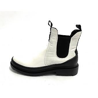 Shoes Donna Liu-jo Ankle Boot Beatles Mod. Alison Ecopelle /pvc/ Nylon White D20lj14