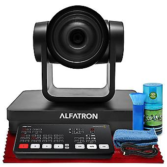 Alfatron alf-30x-sdic 1080p ptz camera, 30x zoom lens with hdmi livestream switcher, 6-foot hdmi cable, cleaning kit and more in ps23463
