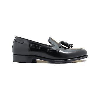 Loake Lincoln Black Polished Leather Mens Loafer Shoes