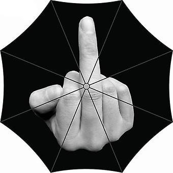 Yada Creative Cool Middle Finger Pattern Folding Rainproof Umbrella (noir)