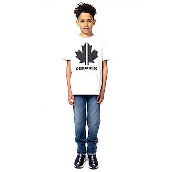 DSQUARED2 Kids Valkoinen Relax T-paita