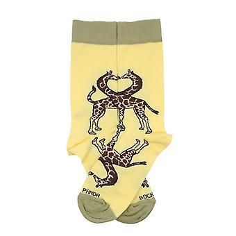 Reflective Kissing Giraffes Socks - So in Love!