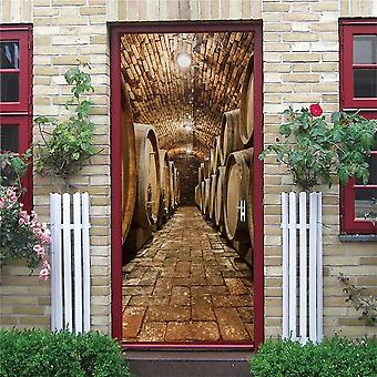 Factory Design Door Decoration Wallpaper 3d Wall Sticker