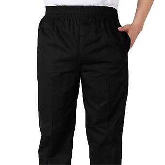 Men's Loose Chef Trousers Food Service Workwear Stripe Kitchen Restaurant
