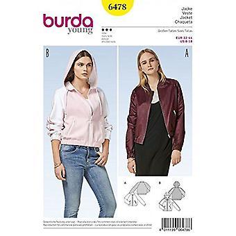 Burda Damer Sy mønster 6478 Sporty & Blouson Jakker Størrelse 6-18