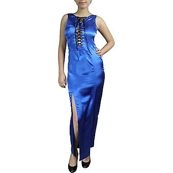 Chic Star Sexy Lace-Up Fitted Maxi Dress In Sapphire