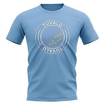 Tuvalu Jalkapallo Merkki T-paita (Sky)