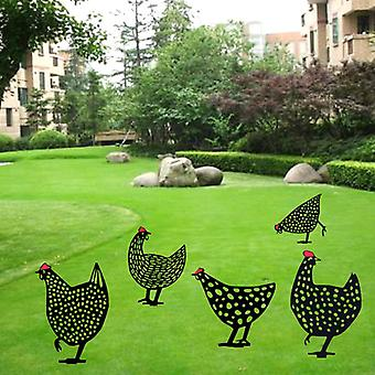 1 Pcs Chicken Yard Art Garden Lawn Floor Decoration Ornament Hollow Out Animal Shape Decor