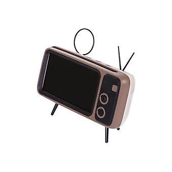 PTH800 اللاسلكية BT المتكلم ريترو التلفزيون الهاتف المحمول قوس 2 في 1