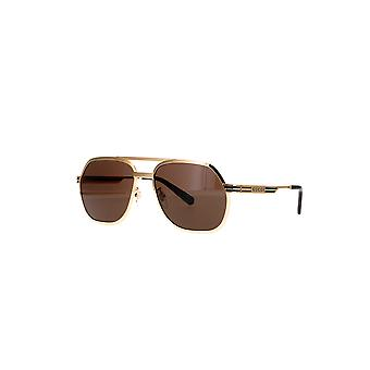 Gucci GG0981S 001 Gold/Brown Sunglasses
