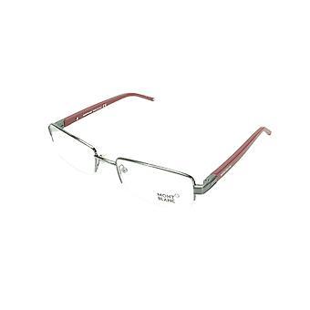 Mont Blanc Eyeglasses Frame MB342 008 Gunmetal Bordeaux Metal Rubber Italy Made