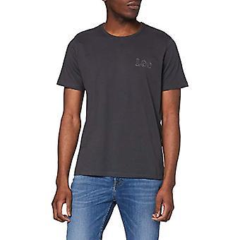 Lee Embro Logo T-Shirt, Nero delave, L Uomo