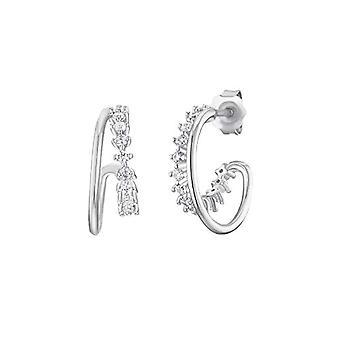 NOELANI Silver Hoop Earrings 925(2)