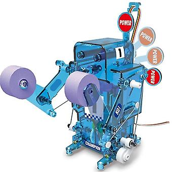 DIY Assembled RC Robot Action Boxing  Battle Educational Toy For Boy Christmas Gifts|RC Robot(Blue)