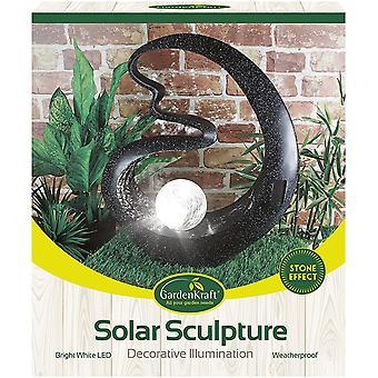 GardenKraft Solar Powered Medusa Garden Ornament