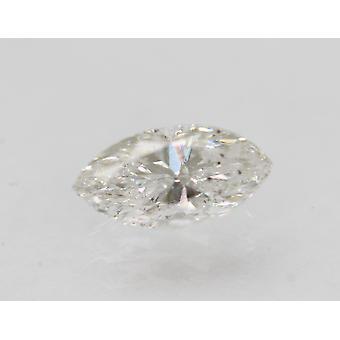 Sertifioitu 0,55 karat F Väri SI2 Markiisi Natural Loose Diamond 7.75x3.91mm