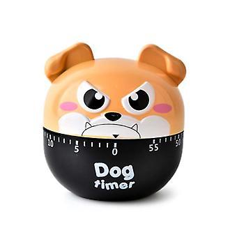 Dog shape timer, plastic manual mechanical kitchen timer