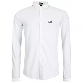 Boss Green Hugo Boss Banzi_S Long Sleeve Jersey Shirt White 100 50448746