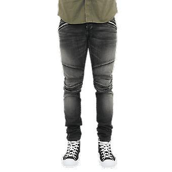 Balmain B Embossed Slim Jeans-Medium B Black VH1MG006010D0PA Pants