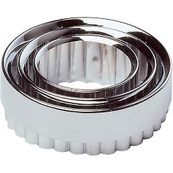 kokk hjelpe bakverk cutters metall (sett med 3)