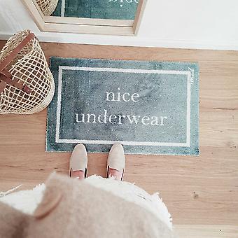 Skyler Nice Underwear Washable Floor Mats In Aqua Blue