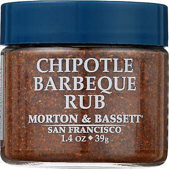 Morton & Bassett Seasoning Chiptle Bbq Rub, Case of 3 X 1.4 Oz