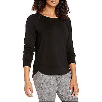 Marca - Core 10 Soft French Terry Mesh Trim Long Sleeve Yoga Sudadera de Mujer