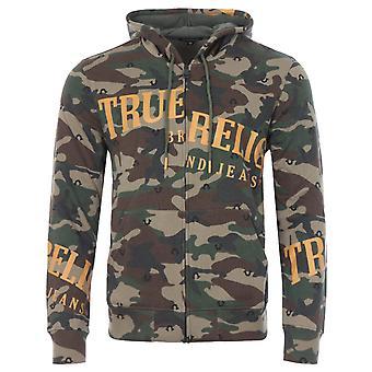 True Religion Horseshoe Zip Hooded Sweatshirts - Camo
