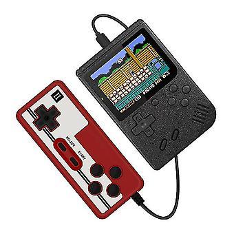 400 in 1 Retro tragbare Handheld-Farb-LCD-Spiel-Player 2-Spieler-Videospielkonsole (Schwarz)
