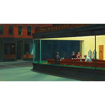 Nighthawks, Edward Hopper Art Reproduction. Realism Style Modern Hd Art Print Poster, Canvas Prints Wall Art For Office Home Decor Pictures