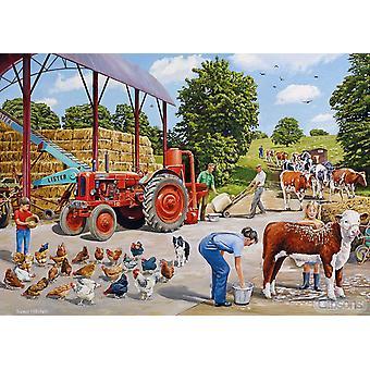 Gibsons A Busy Farmyard Jigsaw Puzzle (500 Pieces)