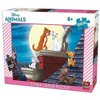King Disney Aristocats Jigsaw Puzzle (200 XL Large Pieces)