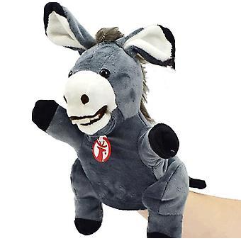 Animal Mano Títere Burro Peluche Juguetes Bebé Educación Títeres de Mano Dibujos Animados Pretend Muñeca Juguete